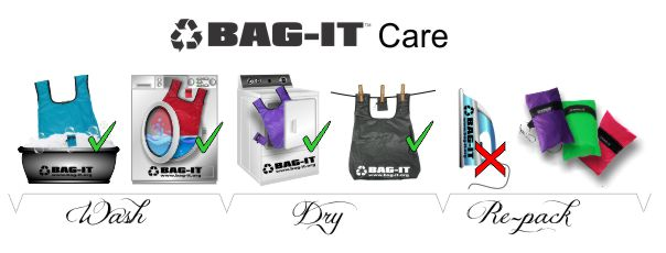 Bag-it care instructions