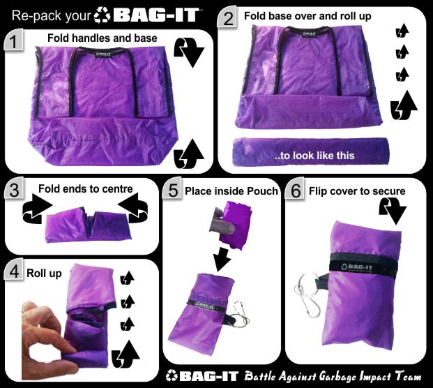 bag it fold up instruction guide